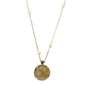 Collana Ecos Jewel Gemma Linea Cristallo RCC3PE in Ciliegio