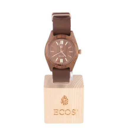 Orologio Ecos Jewel in legno di Noce e cinturino in pelle EWP7