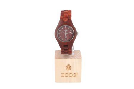 Orologio Ecos Jewel in legno di Sandalo rosso EWC1