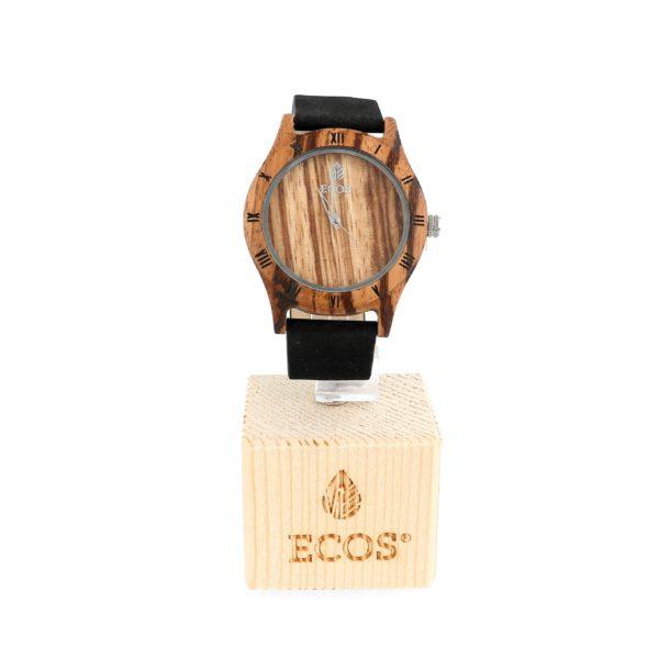 Orologio Ecos Jewel in legno di Zebrano e cinturino in ecopelle EWN9