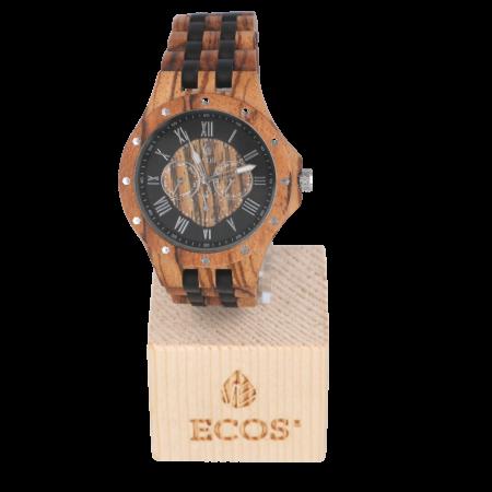 Orologio Ecos Jewel in legno di Zebrano e Sandalo nero EWCR9